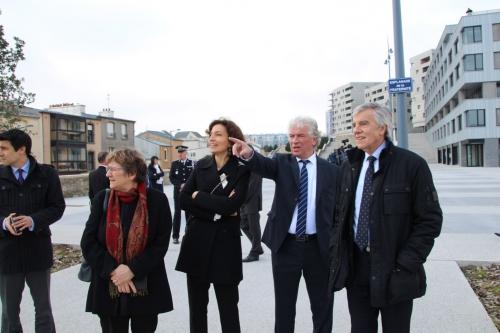 françois MARC, HOLLANDE, AZOULAY, Président de la république, médiathèque, brest, capucins