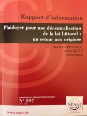 loi littoral, rapport d'information du Sénat, charte régionale, communes côtières, DGF